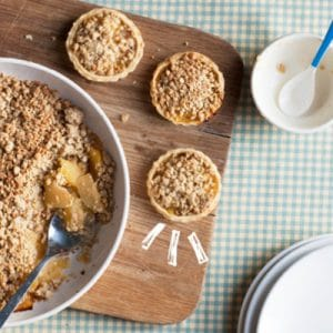 Healthy Breakfast (or anytime) Apple Crumble and Nice Cream