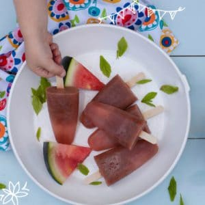 Melon and Mint Zingy Teething Ice Pops