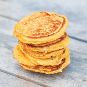 Butternut Squash and Goats Cheese Pancakes