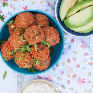 Baby Led Weaning Mexican Quinoa Bites