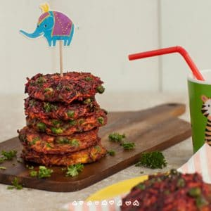 Rainbow Fritters Baby Led Weaning Recipe