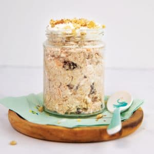 Carrot Cake Protein Overnight Oats
