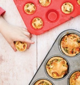 Leftover Turkey and Veggie loaded pies - Baby Finger Foods