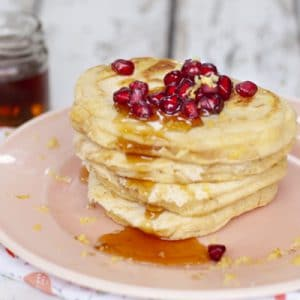 Lemon and Maple Pancakes for Baby Led Weaning