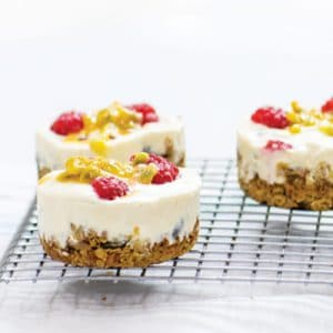 Passion Fruit Mini Cheesecakes