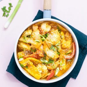 Healthy Sweet & Sour Chicken with Vegetarian Tofu Option