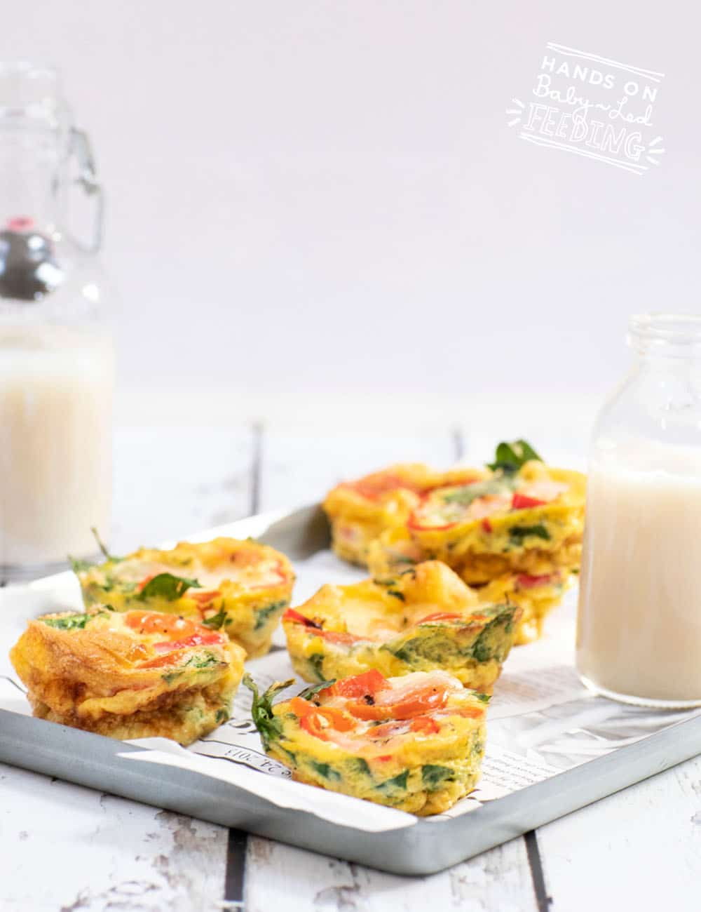 egg muffins with bell pepper and spinach