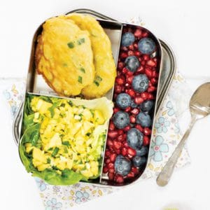 Sweetcorn Fritters with Mango Salsa