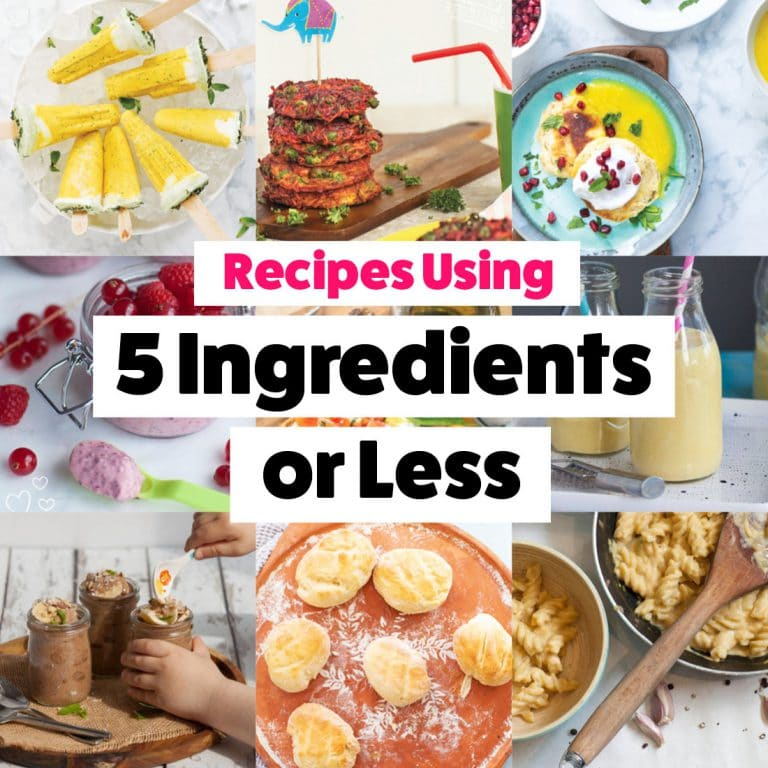 Baby & Toddler Recipes using 5 Ingredients or Less