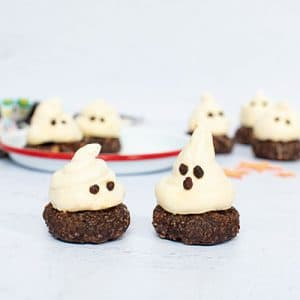 Healthy Halloween Ghost Cookies