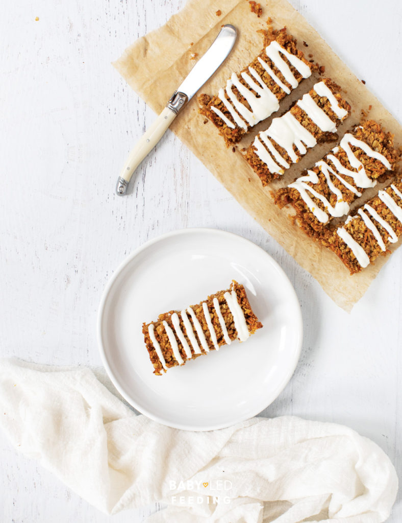 Healthy Carrot Cake recipe for baby led weaning