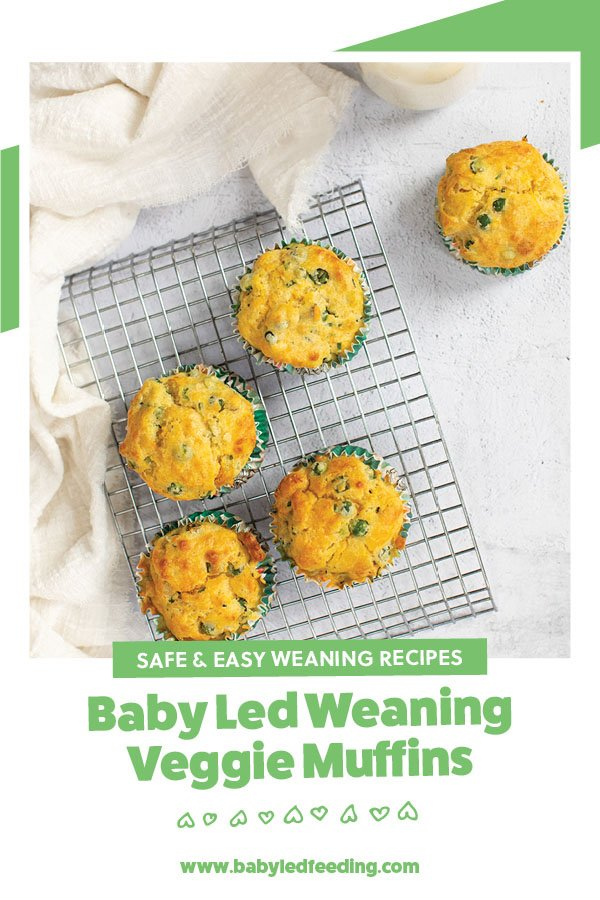 Muffins are one of my favourite recipes for baby led weaning.