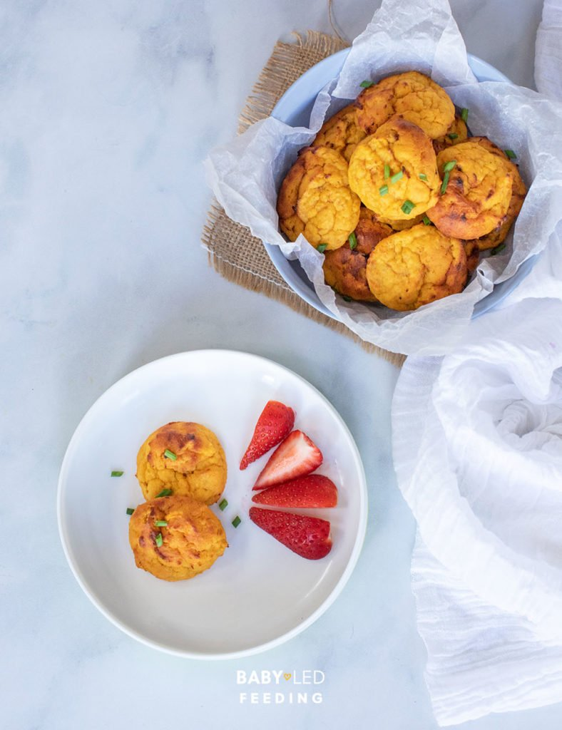 Sweet Potato Cheesy Bites First Finger foods for baby