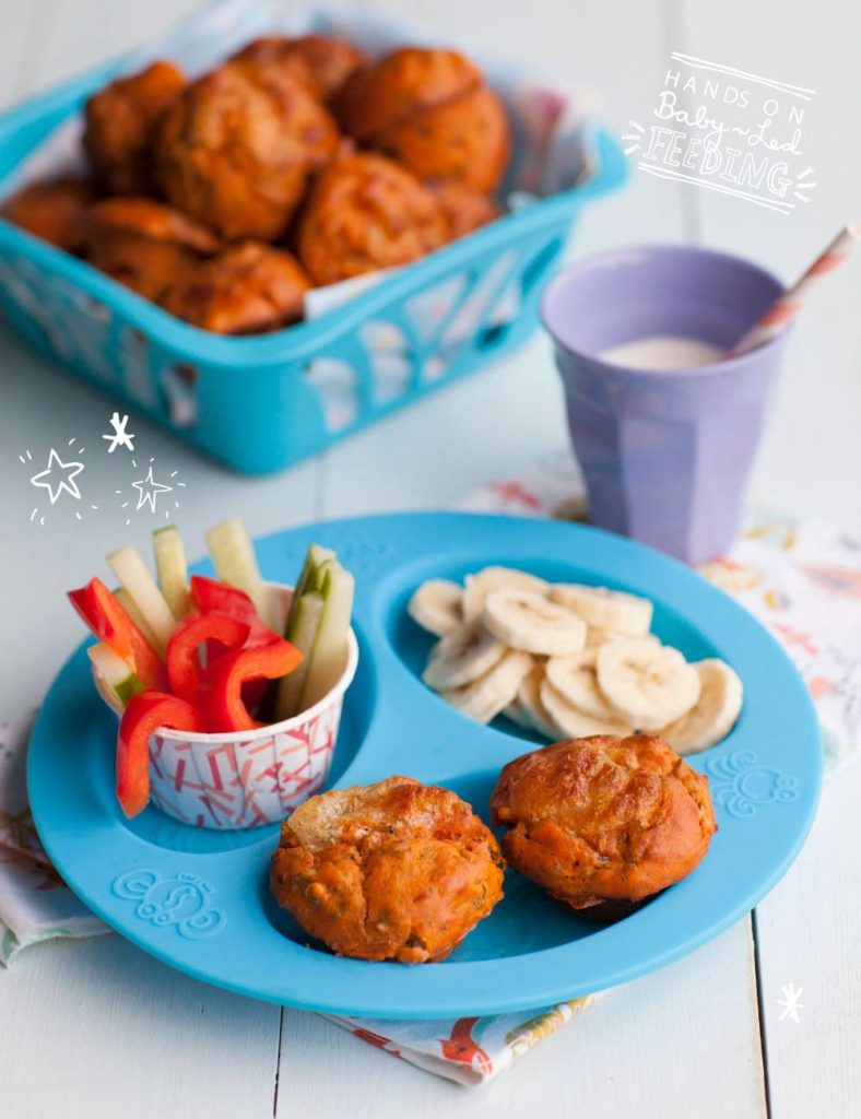 Pizza Muffin recipe for baby led weaning