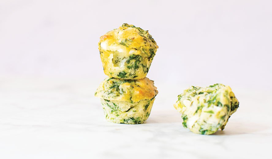 Baby Led Feeding Spinach and Goat Cheese Muffins Website Banner